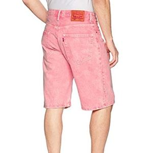 New Levi's 569 Loose Straight Pink Jean Shorts